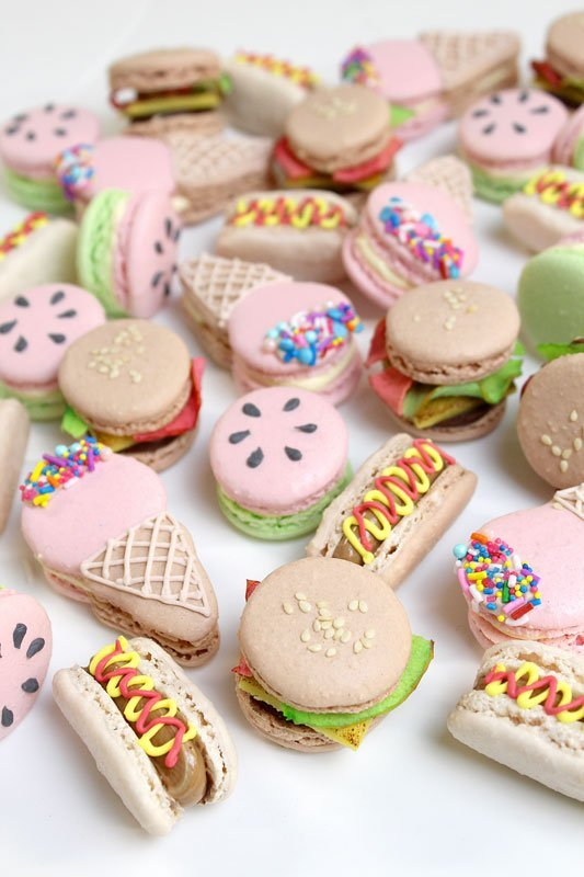 Summer Themed Macarons