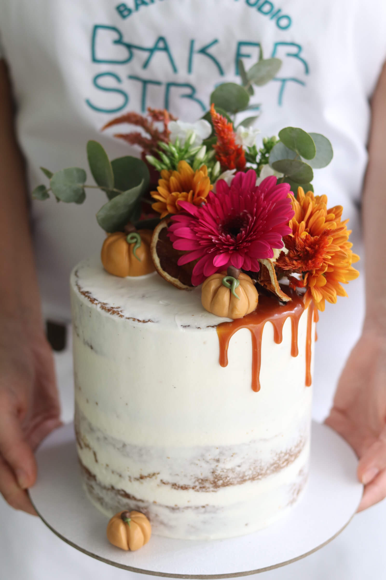 Thanksgiving Pumpkin Spiced Naked Cake